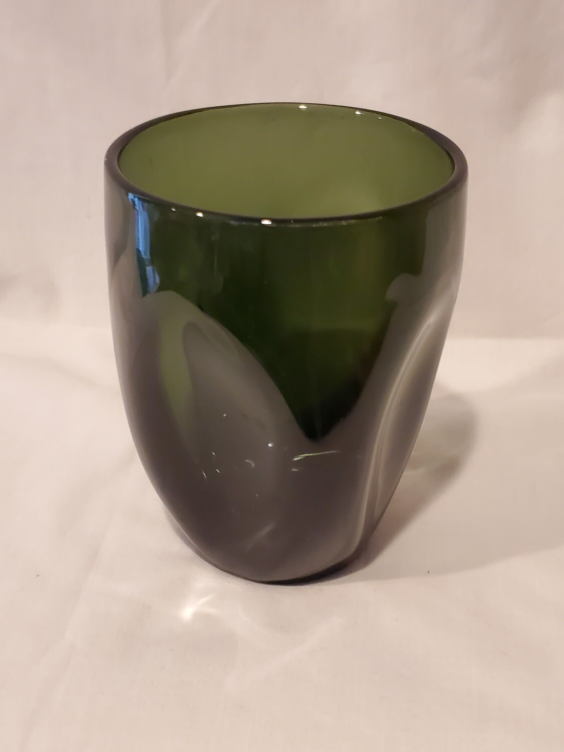 Imperial Glass, Pinched Forest Green, MCM, Russel. Wright
