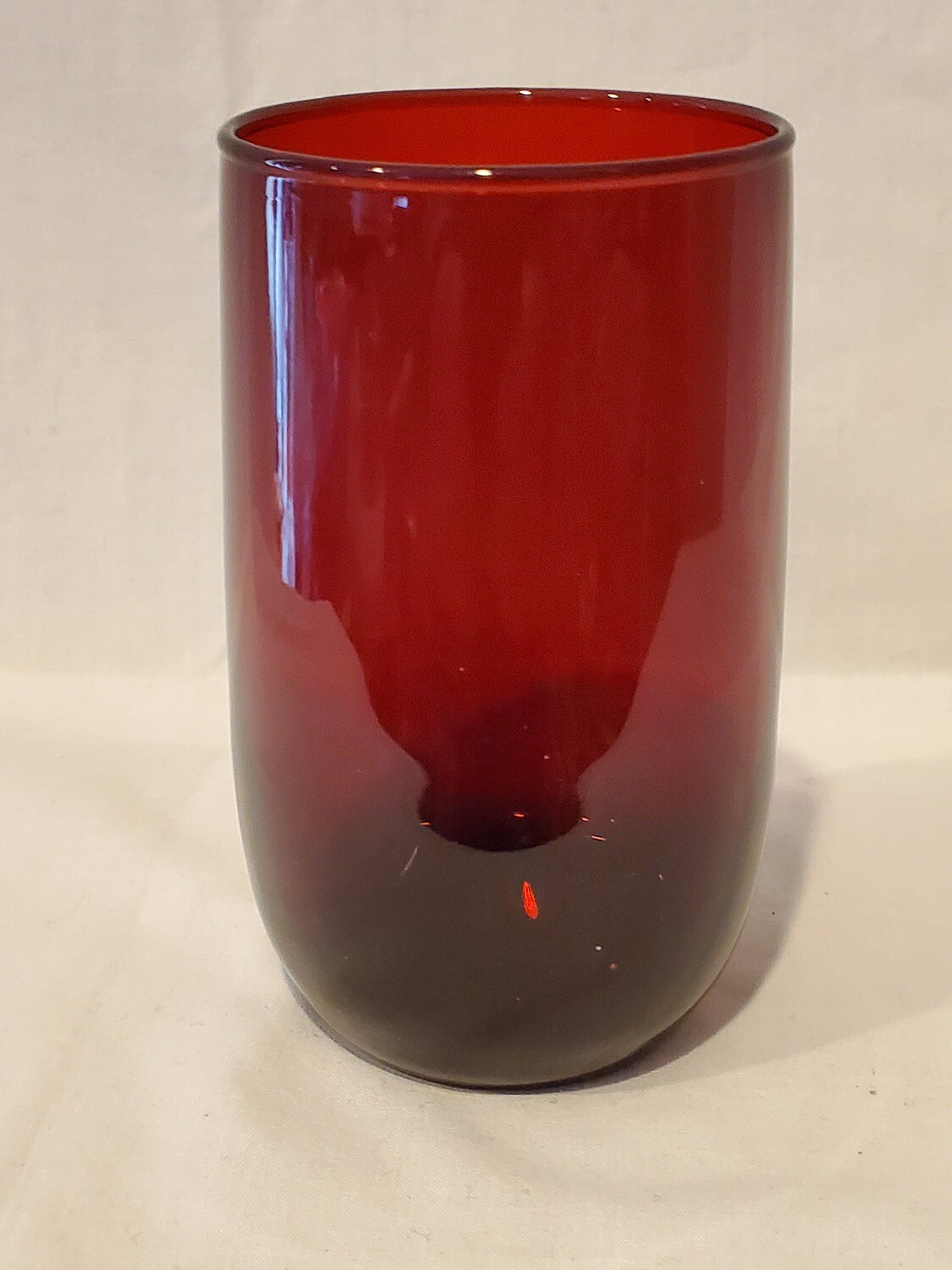 """Anchor Hocking Royal Ruby Red 4 3/8"""" Juice Glass, Plain Pattern"""