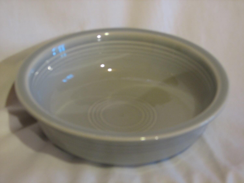 "Fiestaware Cereal Bowl by Homer Laughlin  6 7/8"" Diameter, Light Grey, Vintage"