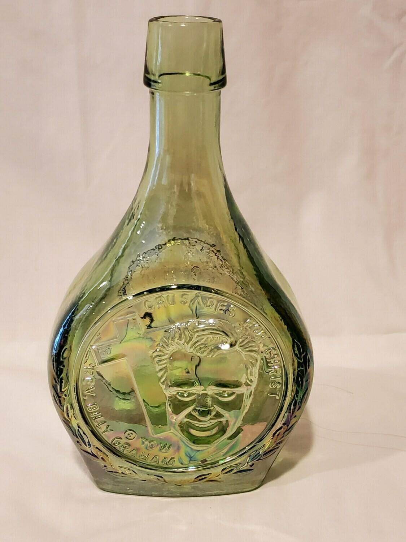 Wheaton Decanter, Billy Graham, 70W Iridescent Green