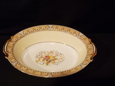 "Noritake, Oval Vegetable Bowl 10 1/2"", Claire Pattern, Porcelain"