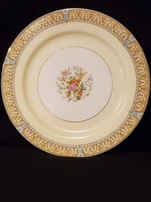 """Noritake, Dinner Plate 9 7/8"""" W, Claire Pattern, Porcelain"""