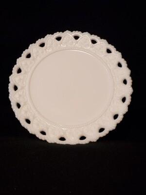 Kemple Milk Glass, Bread & Butter Plate 7 1/4