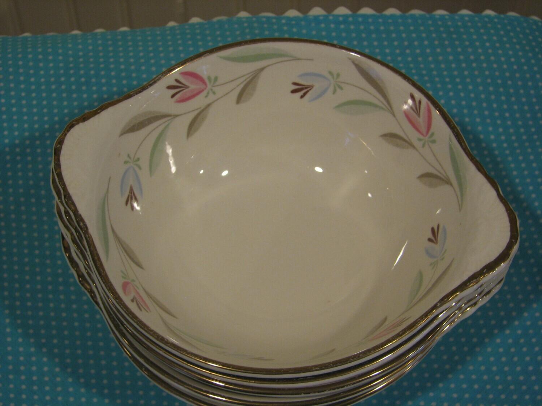 Vintage Homer Laughlin, Eggshell Nautilus, Nantucket Lugged Soup Bowl