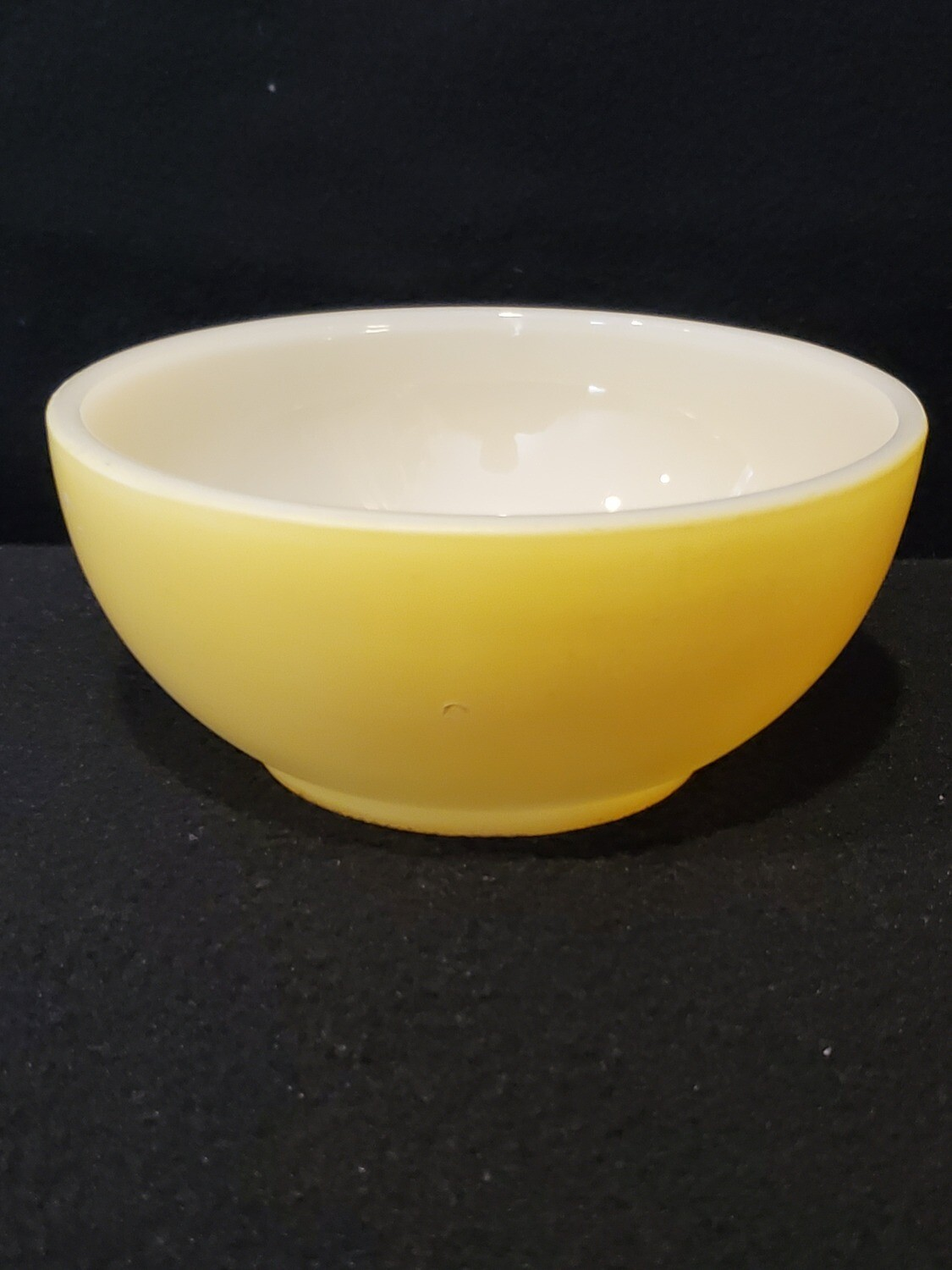 """Vintage, Fire King Oven Ware, 5"""" Bowl, Fired on Yellow"""