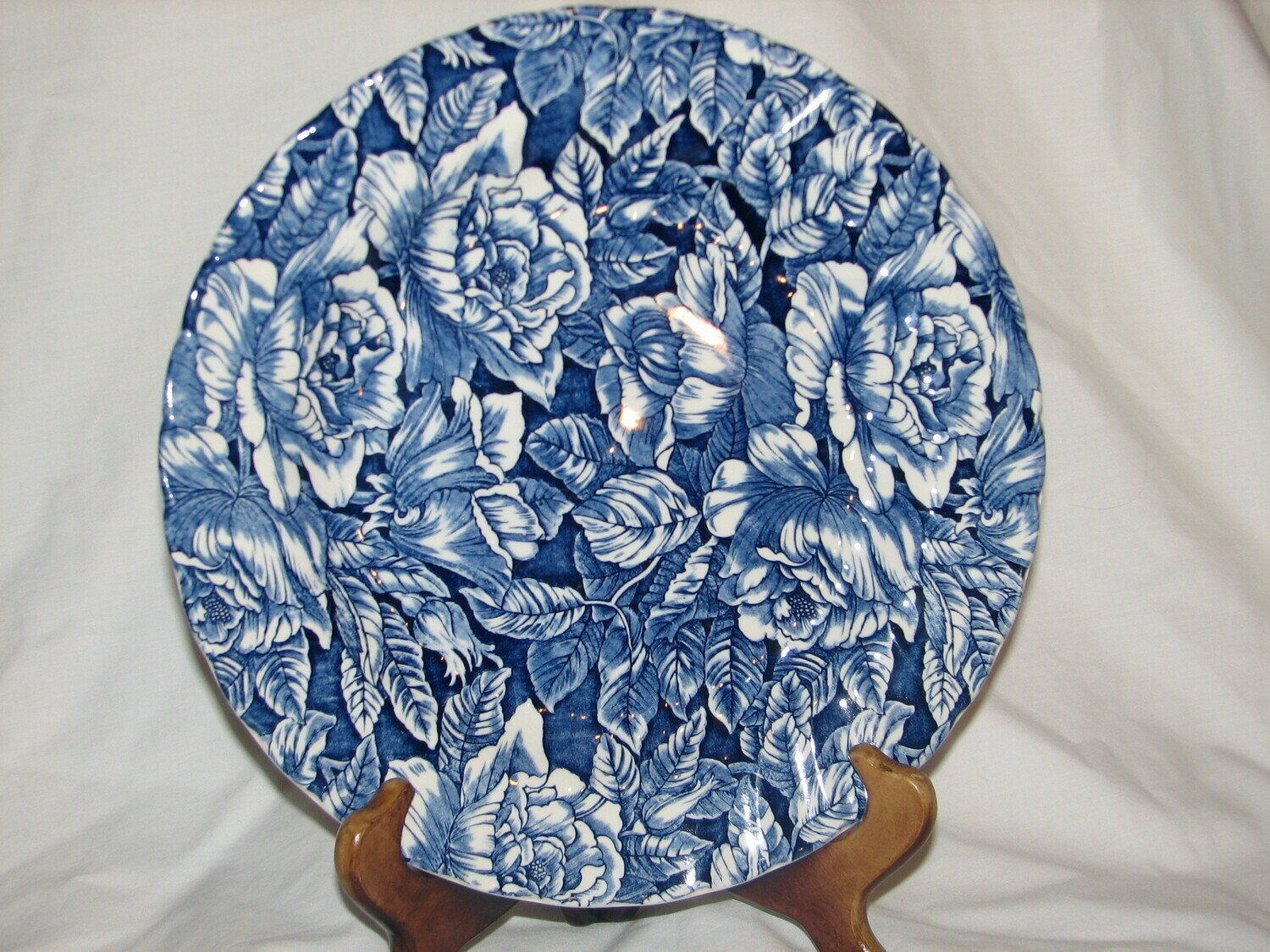 "Churchill, ""The Georgian Collection"" Bermuda Blue, 10.25"" Dinner Plate"