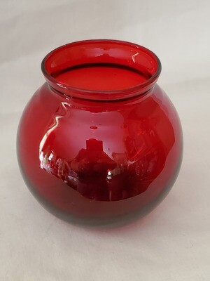 Anchor Hocking, Ivy Ball Flower Vase, Royal Ruby Red 4