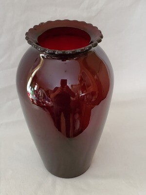 Anchor Hocking, Flower Vase, Royal Ruby Red 9