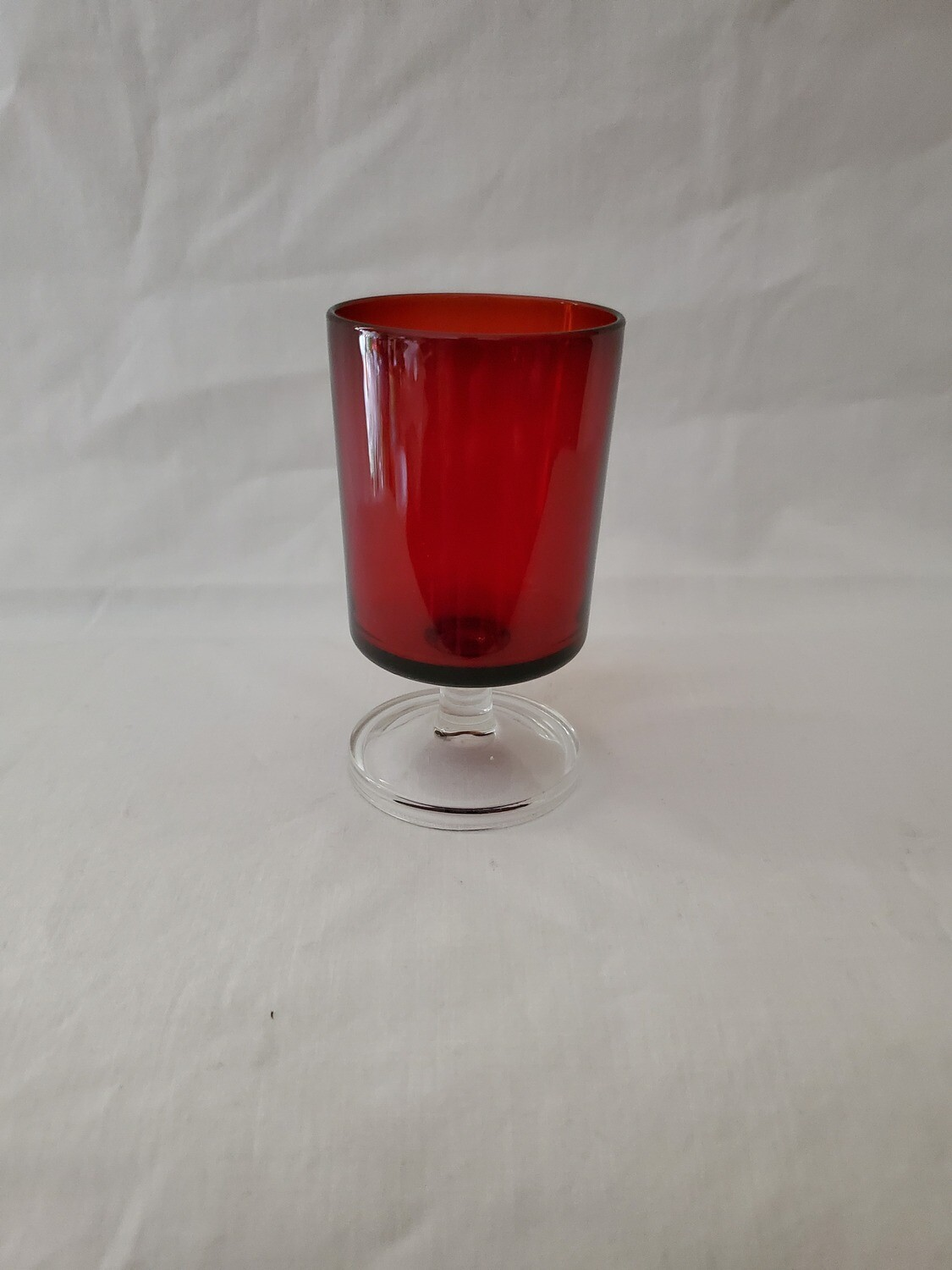 "Cavalier Ruby, Wine Glass 4 1/8"" by Cristal D'Arques-Durand"