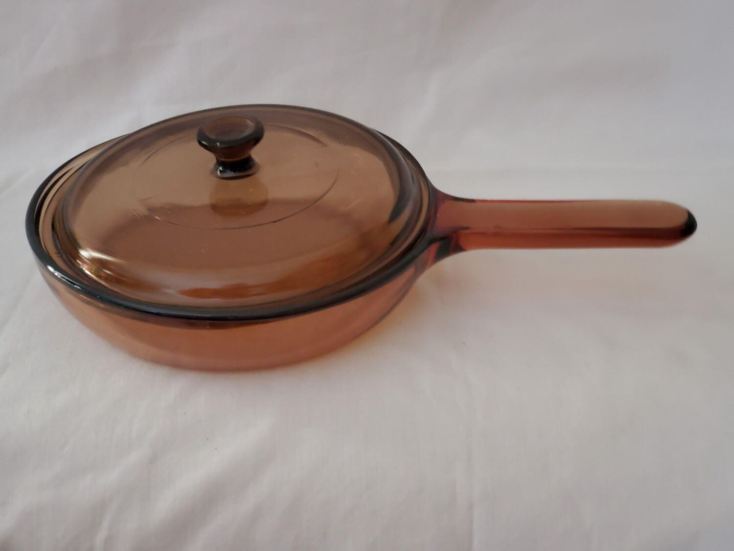 """Corning Ware Visions 7.25"""" Skillet, Fry Pan W/Waffle Bottom and Cover"""