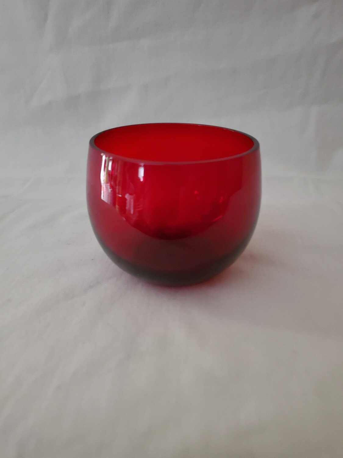 ANCHOR HOCKING ROYAL RUBY ART DECO ANTIQUE PUNCH BOWL CUP
