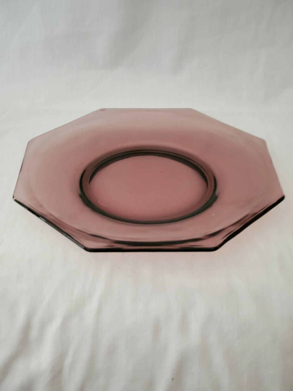 "Moroccan Amethyst by Hazel-Atlas, Dinner Plate Octagonal 9 3/8"""
