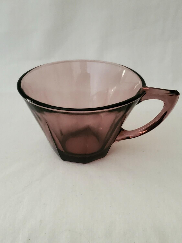 """Moroccan Amethyst by Hazel-Atlas, Cup, Octagonal foot 2 3/8"""""""