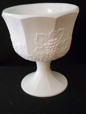 Planter , Harvest Milk Glass, by Colony 6 1/2