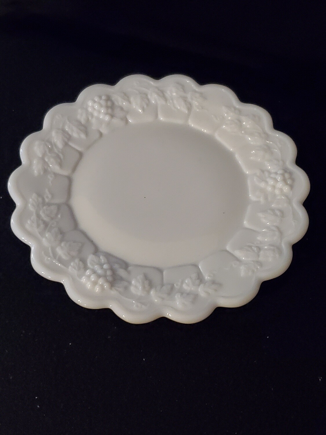 "Westmoreland Bread and Butter Plate, Paneled Grape, 6 1/4"", Milk Glass"