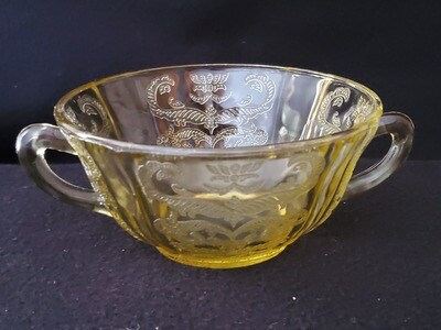 Vintage Cream Soup Bowl, Madrid Amber, by Federal Glass, 4 3/4
