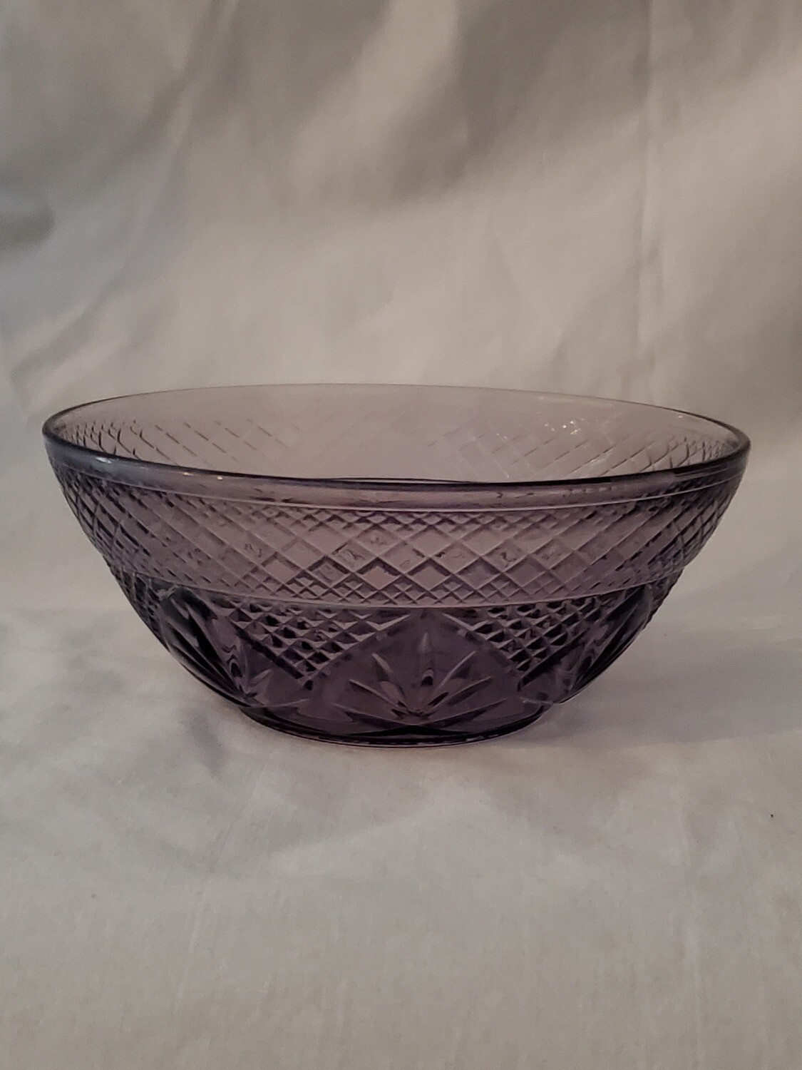 "Antique Amethyst Salad Bowl, 5 5/8"" by Cristal D'Arques-Durand"