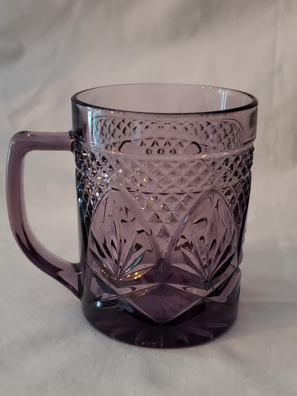 "Antique Amethyst Mug, 3 7/8"" by Cristal D'Arques-Durand"