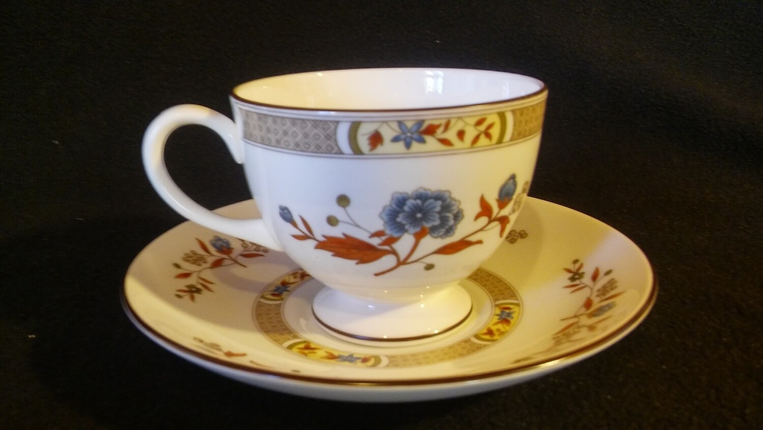 Wedgwood Bone China, Cup & Saucer, Jamestown Pattern # R4613