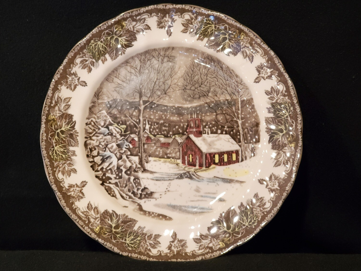 """Johnson Brothers, Dinner Plate 9 7/8"""", The Friendly Village / The School House, England"""