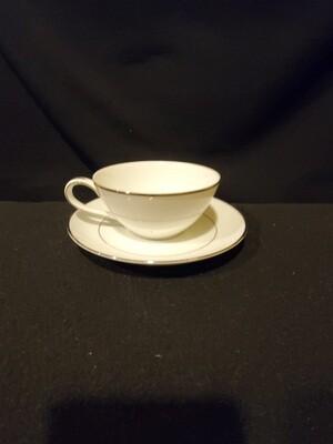Noritake Flat Cup & Saucer Set, Derry #5931