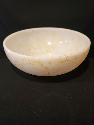 "Hazel Atlas Milk Glass, Spaghetti String Serving Bowl, 10 1/4"""