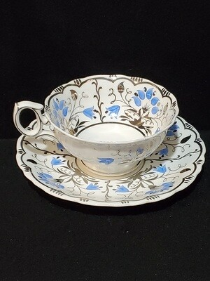 """Wedgwood Bone China, Footed Cup & Saucer 2"""", Pattern # W3112"""