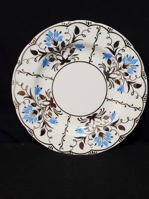 """Wedgwood Bone China, Bread & Butter Plate 6"""", Papyrus Blue and Silver, Made in England"""