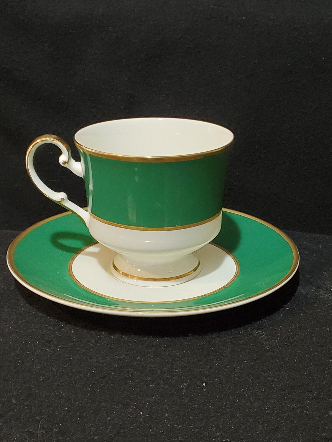 Mikasa, Footed Cup & Saucer Set, Ming Green A6400