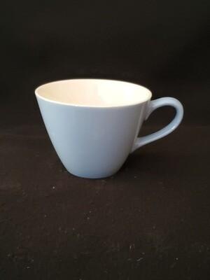 Coffee Cup, Richelieu by Homer Laughlin, Turquoise Blue Cup, Fleur De Lis Pattern.