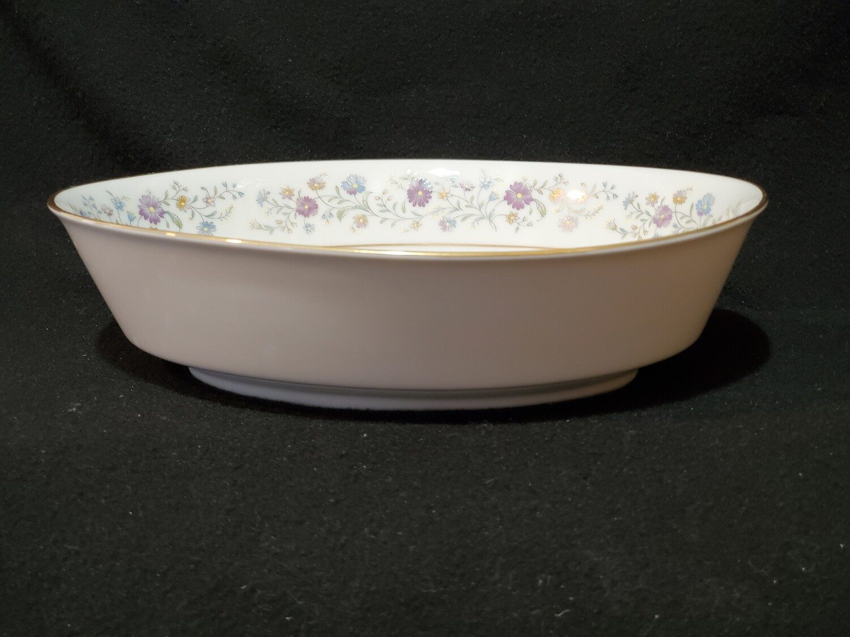"Noritake Contemporary, 9"" Oval Vegetable Bowl, Longwood #2485"
