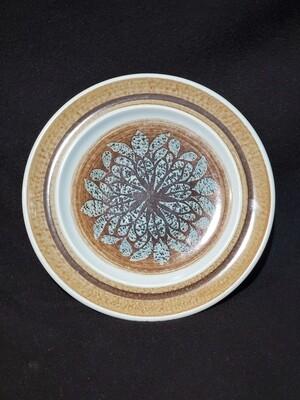 """Franciscan Earthenware, Dinner Plate 10.5"""", Nut Tree Pattern, Blue Fancy"""