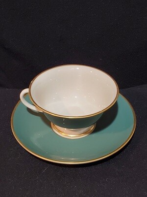 Franciscan China, Footed Cup & Saucer, Palomar Jade (Dark Green)