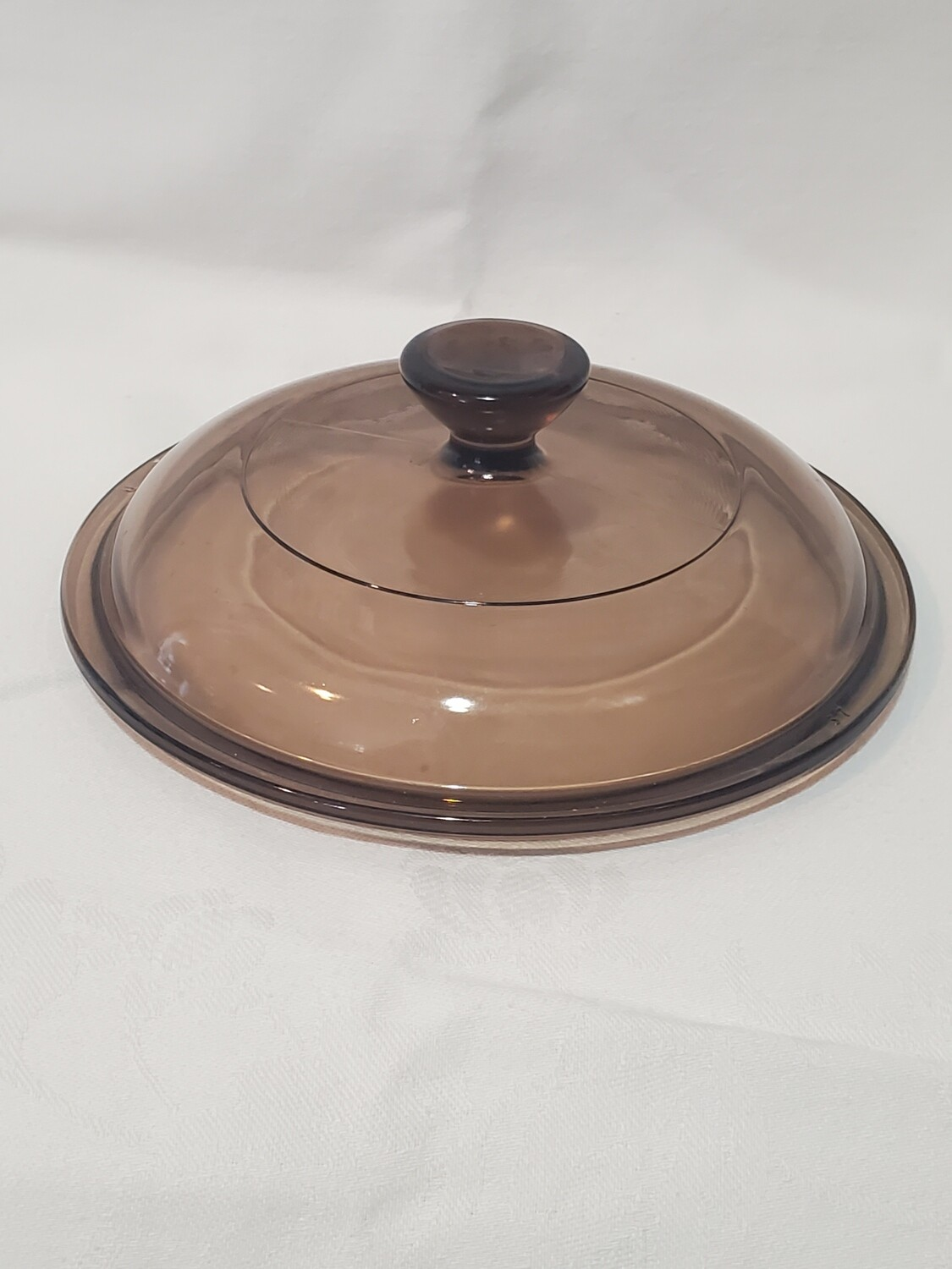 """Corning Ware Visions (Pyrex) 5 3/4""""Lid for Sauce Pan, V-1-C, Amber"""
