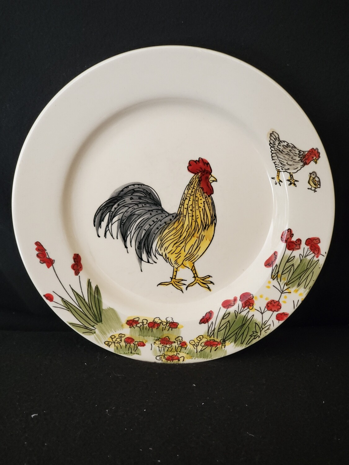 """Southern Rooster Salad Plate 8"""", Paula Deen"""