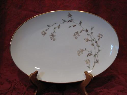 "Noritake China 14"" Oval Serving Platter, Andrea Pattern #5524"