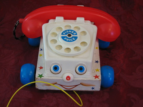 Vintage 1961 Fisher Price Telephone Toy #747
