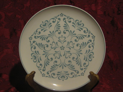 "Franciscan 8.25"" Salad Plate, Whitestone Ware, Blue Fancy"