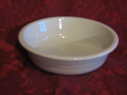 "Fiestaware Cereal Bowl by Homer Laughlin  6 7/8"" Diameter, White, Vintage"