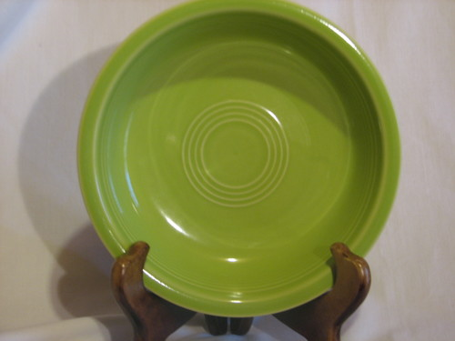 "Fiestaware Cereal Bowl by Homer Laughlin  6 7/8"" Diameter, Lemon Grass, Vintage"