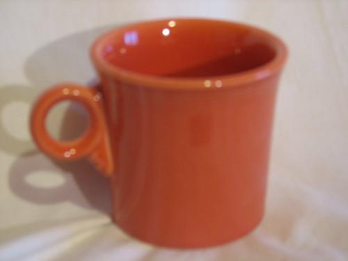 Fiestaware by Homer Laughlin COFFE CUP TUMBLER-RING MUG Vintage Orange
