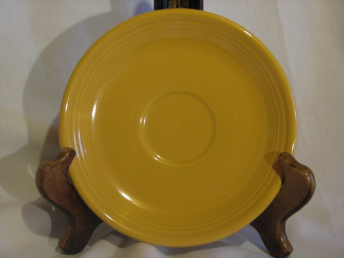 Fiestaware by Homer Laughlin, Saucer, Yellow