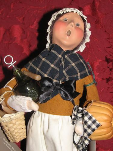 Byers Choice Carolers,, 2004, Tavern Life Pilgrim Woman