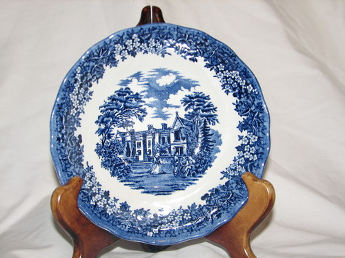 """J&G Meakin, 6.5"""" Coupe Cereal Bowl, Merrie England-Blue"""