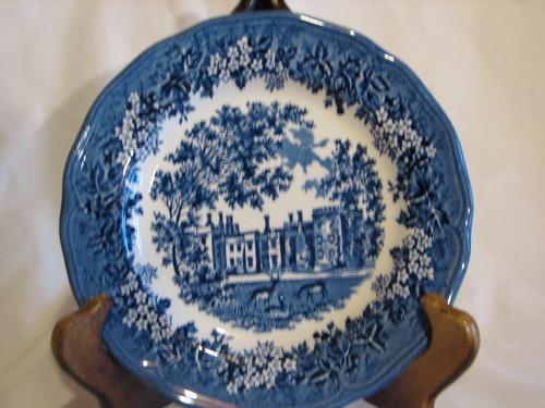 "J&G Meakin, 7"" Dessert/Pie Plate, Merrie England-Blue"