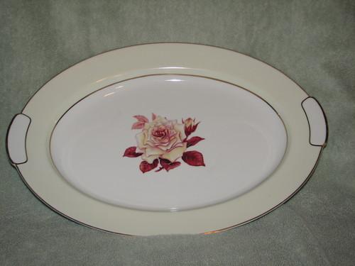 "Mikado 12.75"" Oval Serving Platter, Prima Donna"