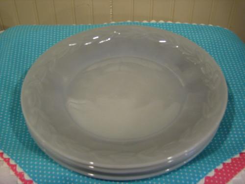 Vintage Fire King Laurel Grey Dinner Plates