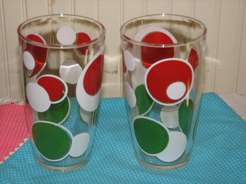 Hazel Atlas Polka Dot Drinking Glass
