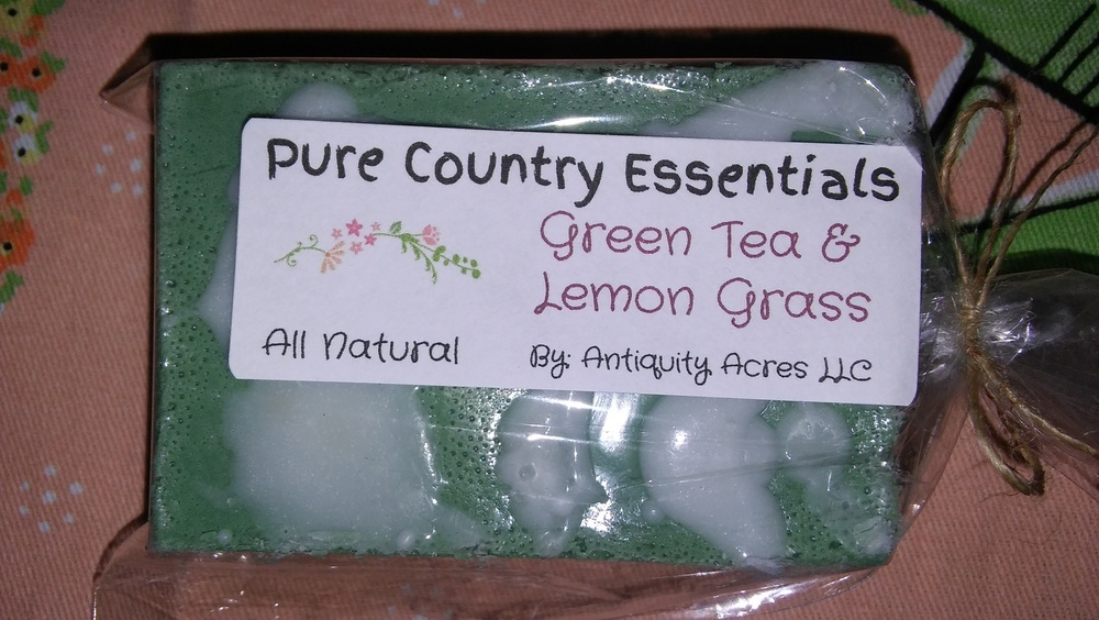 Pure Country Essentials Soap, Shea & Oatmeal, Green Tea & Lemon Grass Fragrance, Rectangle