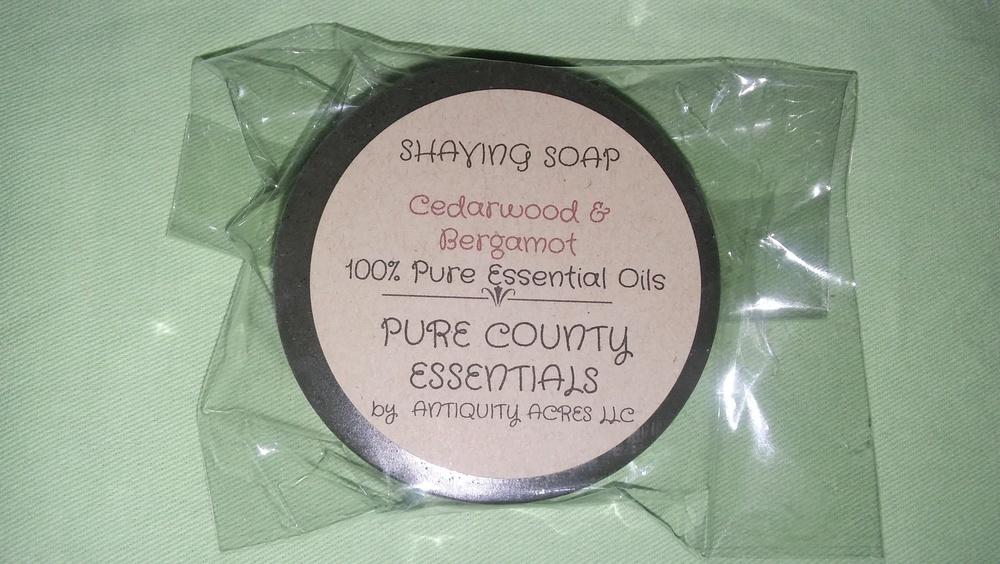 Pure Country Essentials Soap, Men's Shaving Soap, Cedarwood & Bergamot Fragrance